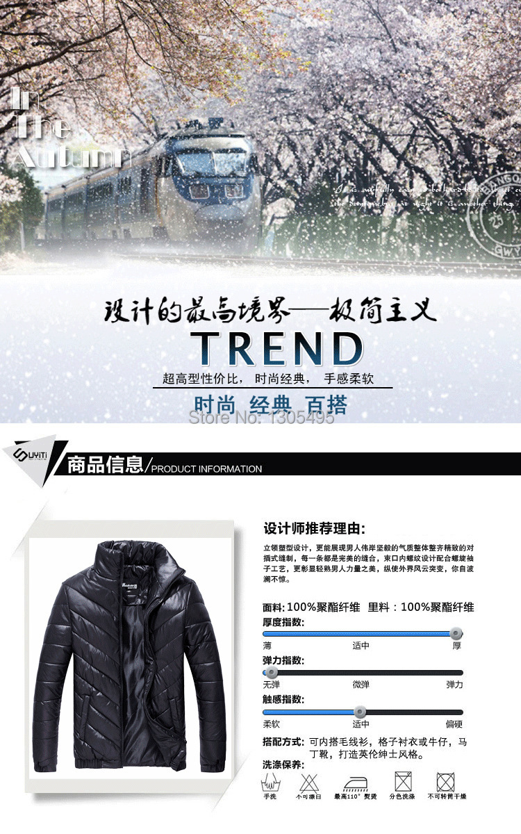 2015 new Brand down cotton jacket coat favorite style Long winter down coat blue Black Outwear