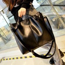 korean pu leather handbag wine red / black shoulder bag large capacity waterproof tote for women weight 790g(China (Mainland))