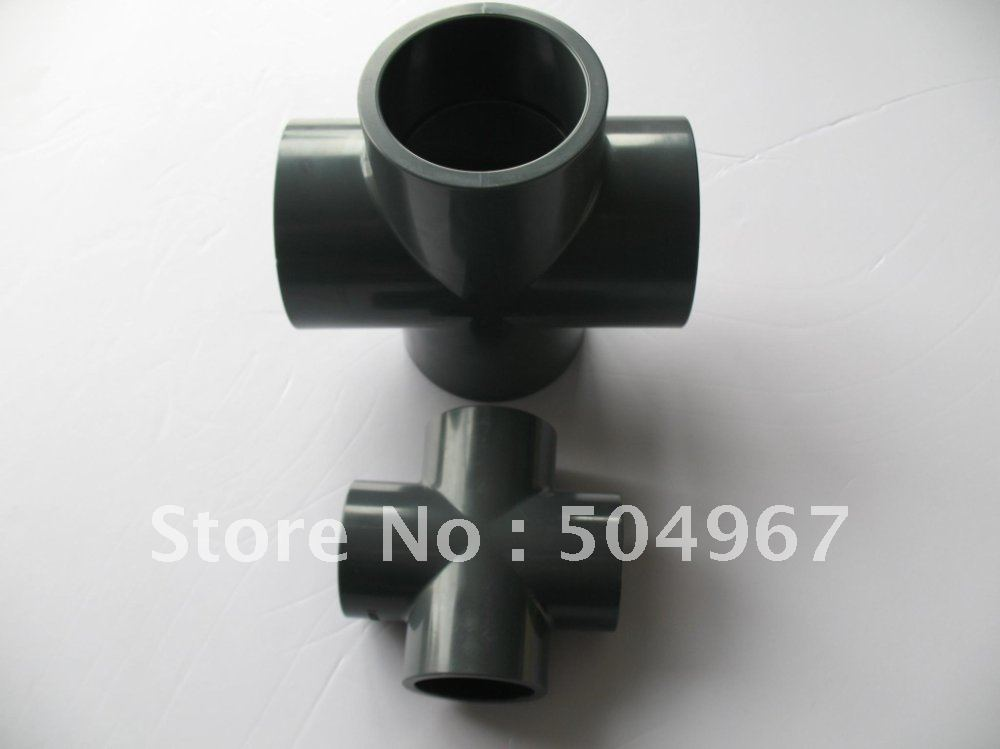"retail and wholesale PVC cross pipe fittings DN15 1/2"" DIN standard(China (Mainland))"