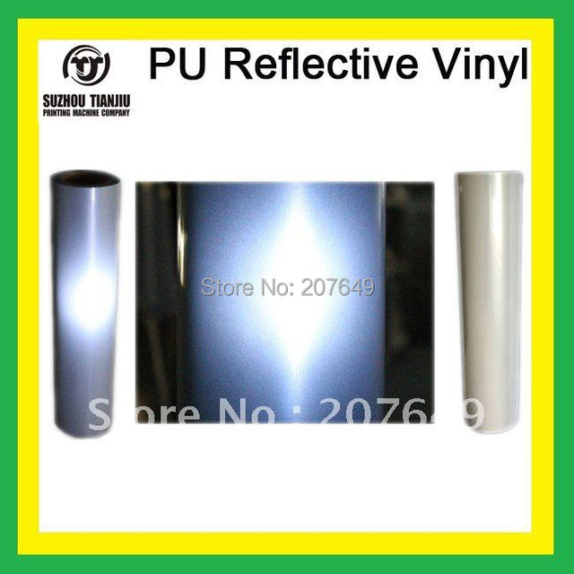 "TJ High-Quality Heat Transfer Vinyl, PU Reflective Vinyl,T-shirts vinyl Width 20""  one meter sales"