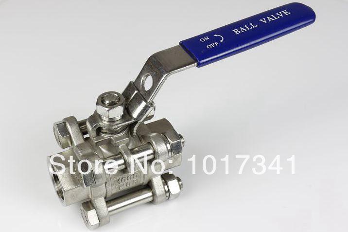 "Stainless Steel 316 3-piece Ball Valve, 1/2""BSP, 1000 psi WOG, kettle ball valve, brewer hardware(China (Mainland))"