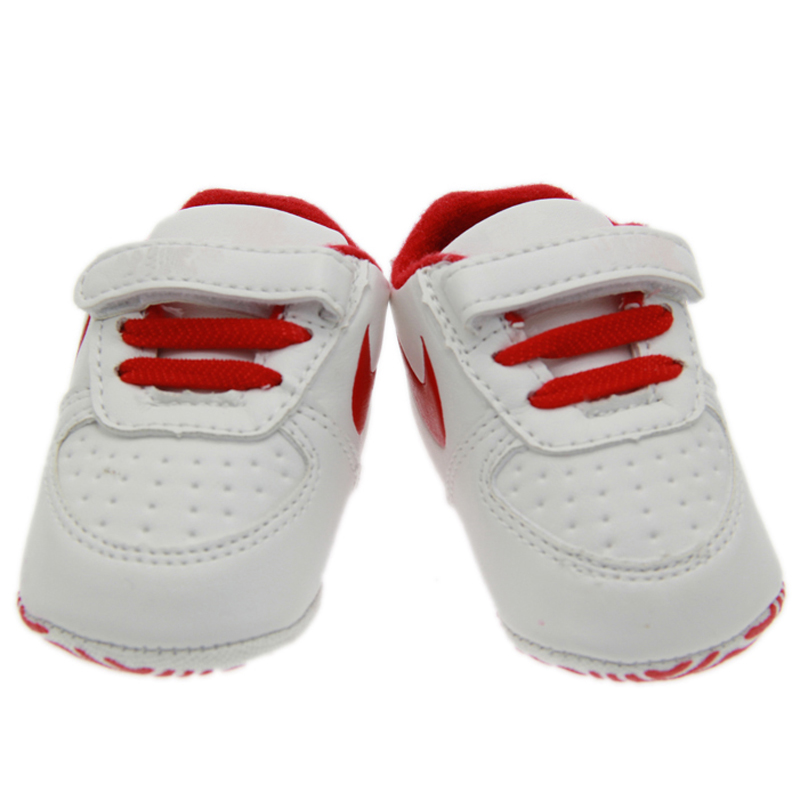 new born baby boy pink blue black white red leather soft sloe first walkers home shoes size 2 3 4 in US(China (Mainland))