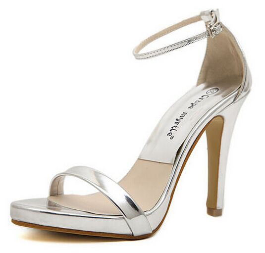 Model Free Shipping 2014 New High Heel Shoes Women Sandals Fashion Dress