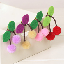 Wholesale100pcs Assorted Kawaii Fulffy Balls Cherry Hair Clips Cute Girls Hairgrips Beautiful Kids Hair Accessories
