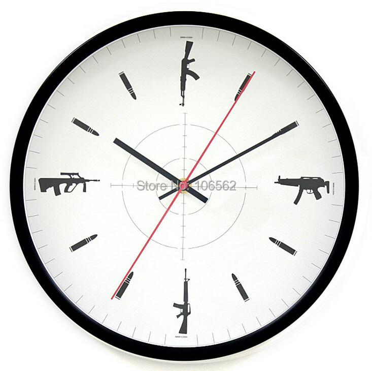 GEEKCOOK 12 inch horologe Metal wall clock counter-strike clock wholesale metal wall clock Cool home decor clocks manufacture(China (Mainland))