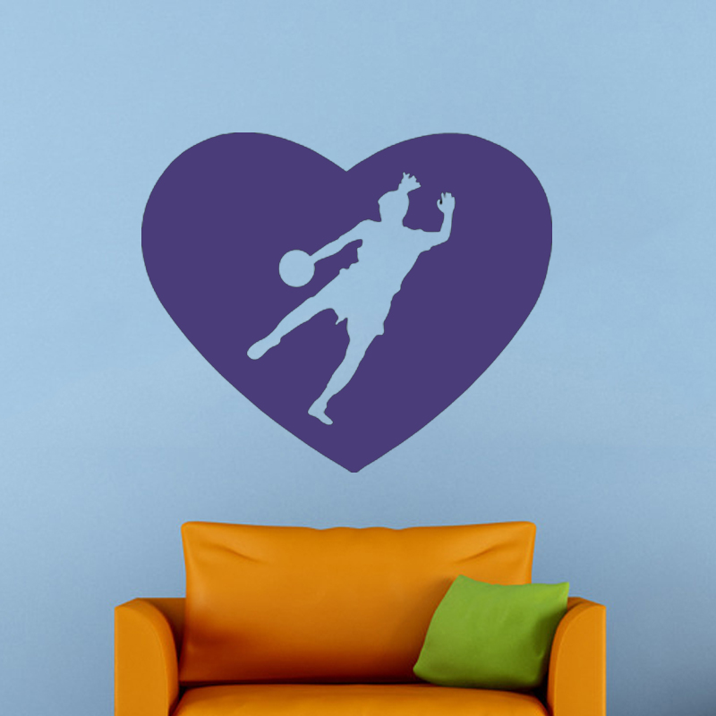 Hot Sale Soccer Girl Kicking Ball Goal Vinyl Decal Stickers Bedroom Living Room Art Deco Mural(China (Mainland))