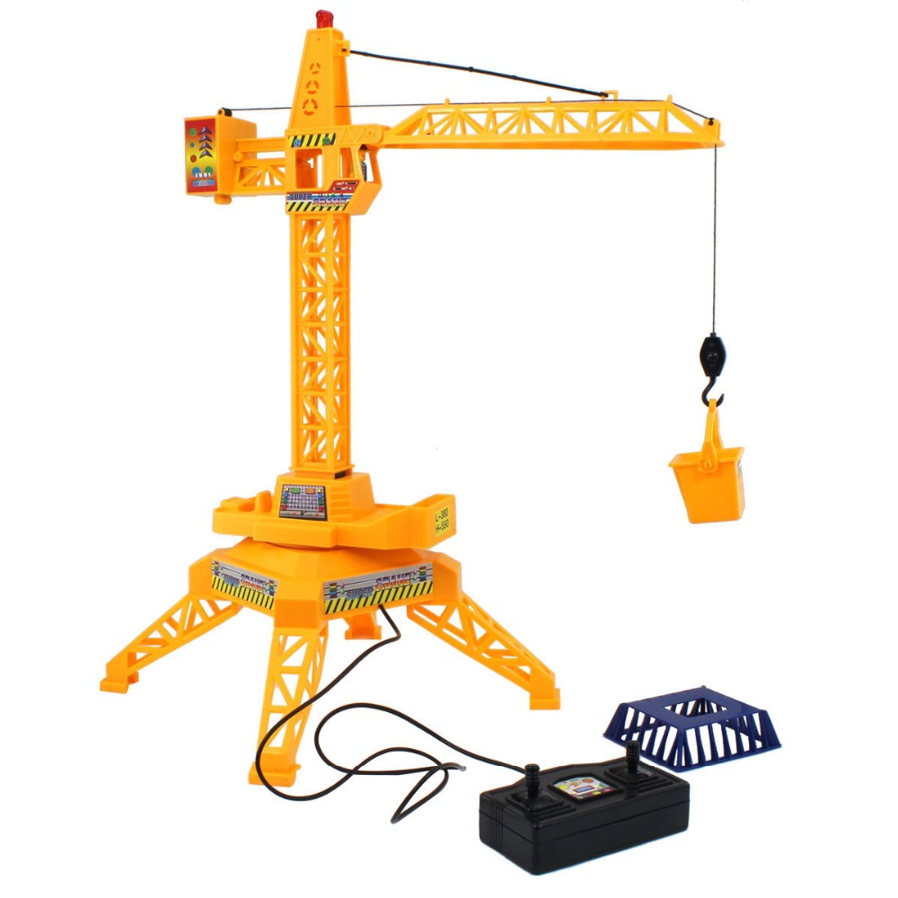 2016 New Strange Wire Control Construction Tower Crane Toys Simulation Model Educational Toys Boy Gifts(China (Mainland))