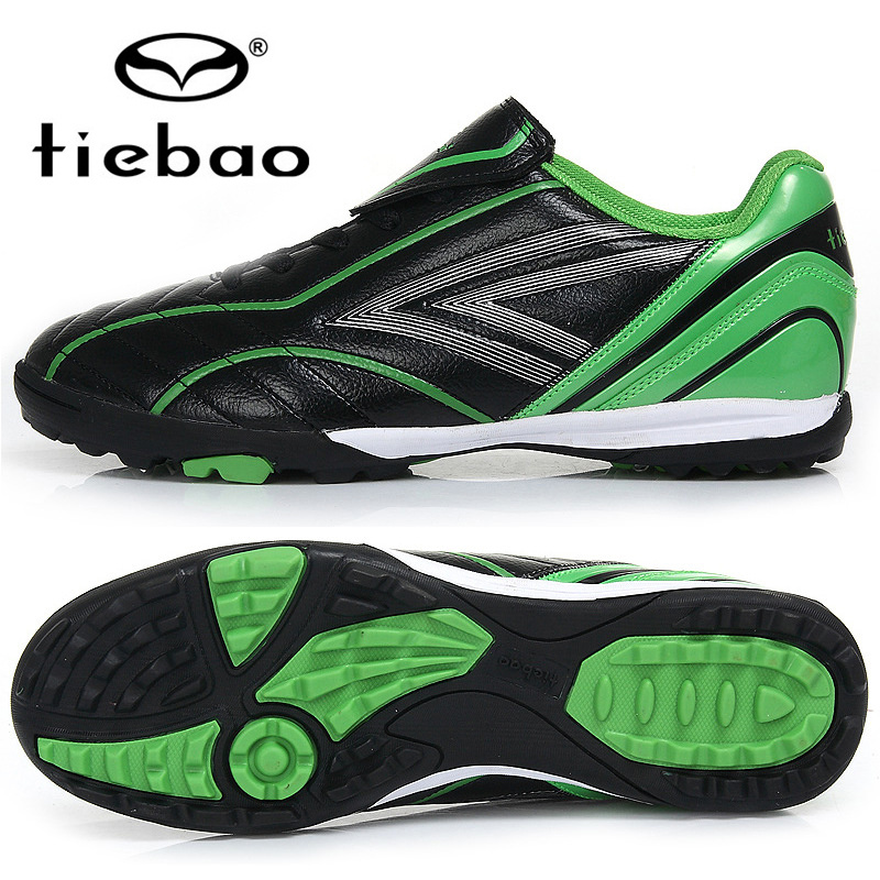 TIEBAO Professional Outdoor Soccer Shoes TF Turf Sole Football Boots Children Kids Teenagers Athletic Training Shoes Sneakers(China (Mainland))