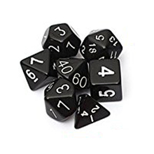 Buy Set 7PCS Dice Dice Die D4~D20 Games Dungeons & Dragons RPG Dungeons Dragons D&D Black for $1.26 in AliExpress store