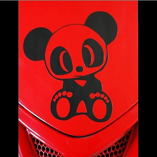car stickers jdm panda car stickers car motorcycle reflective stickers applique(China (Mainland))