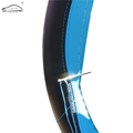 Leather Braid On The Steering Wheel Of Car Leisure sports Steering Wheel Cover Auto Stitch On
