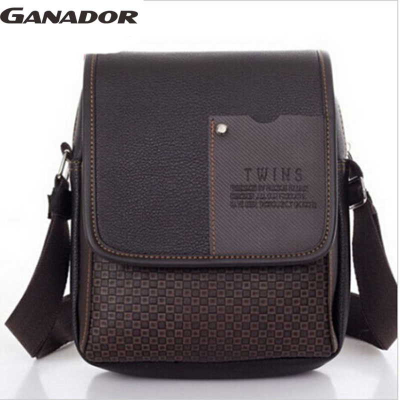 Ganador on sale 2015 new comes men's fashion messenger bags small handbag for busness man men's single shoulder bags LM0041na(China (Mainland))