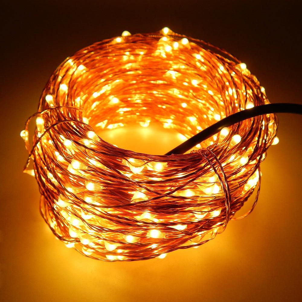50M 165Ft 500 Leds Copper Wire Warm White LED String Light Starry Lights , Includes Power Adapter (UK,US,EU,AU Plug)(China (Mainland))