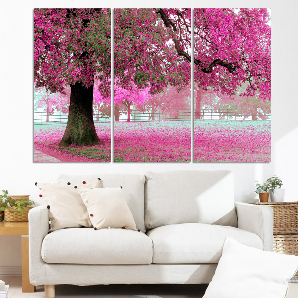 unique gift 3 Panel Modern oil Painting Home Decorative Art Picture Paint on Canvas Prints picture Fruit tree painting(China (Mainland))