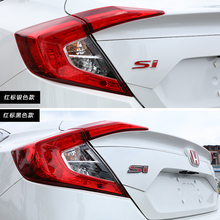 SI 3D Red Si Ho Car Auto Refit Grill Badge 3M Front Emblem Sticker Honda Civic Accord FOR CRV HRV Styling Accessories - EHOTTOP store