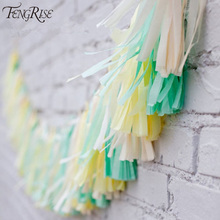 FENGRISE Wedding Decoration 5Pcs Tissue Paper Tassels Garland Ribbon Balloons Birthday Curtain Marriage Car Party Supplies(China (Mainland))