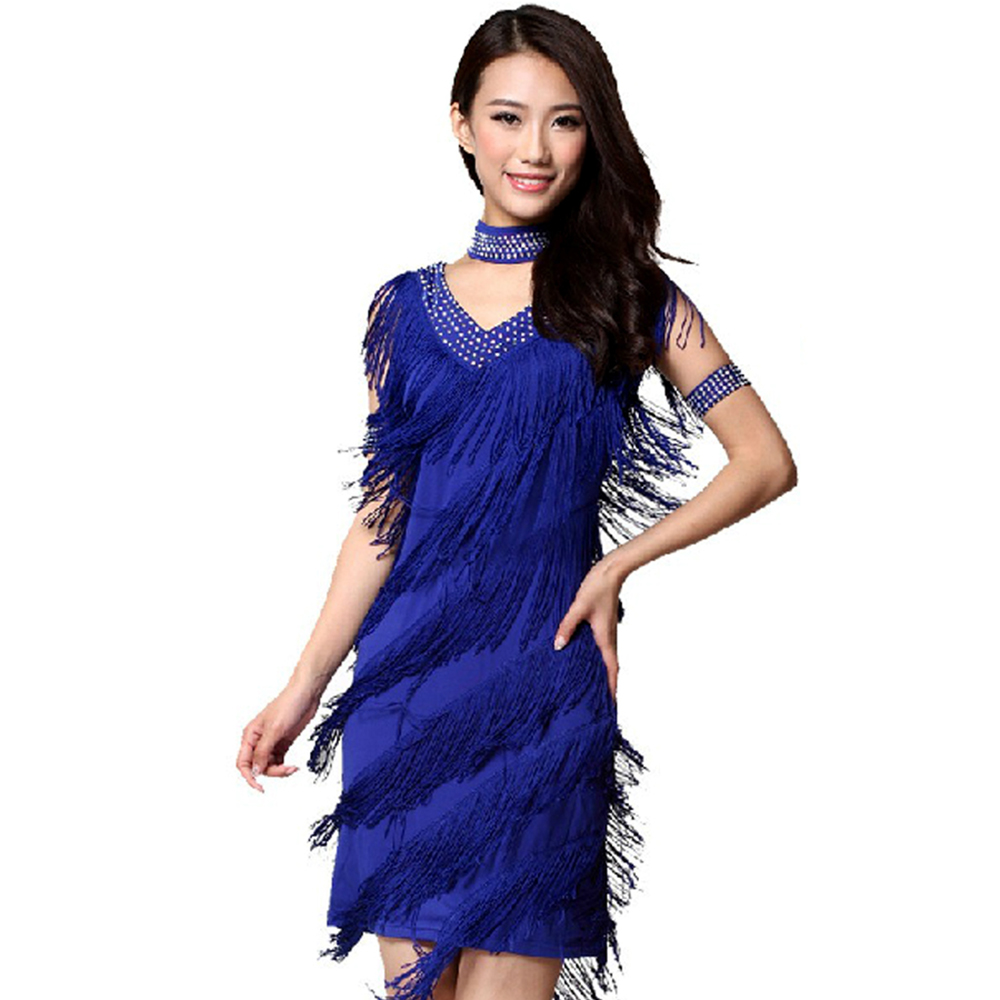 Fringe Charleston Flapper Great Gatsby Stage Dance Clothing Dresses ...