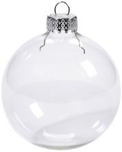 Livraison gratuite de mariage boule de noël ornements d'arbre de noël de boules en verre décoration 66 mm effacer boule, 100 / Pack(China (Mainland))