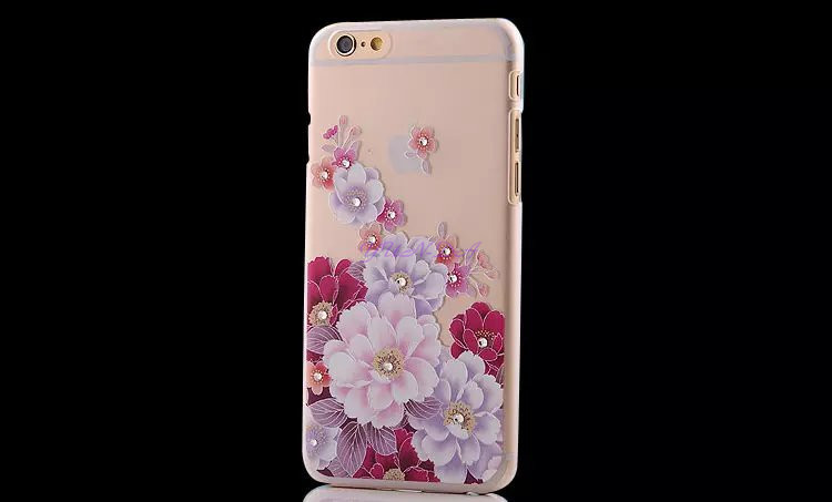 Fashion luxury 3D Diamonds Rhinestone iphone 6 case back cover Hard Plastic Rose flower Butterfly Pattern capa para - YUN-DA Technology Co.,Ltd store