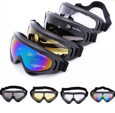 WOLFBIKE X400 UV Protection Outdoor Sports Ski Snowboard Skate Goggles Motorcycle Off-Road Cycling Goggle Glasses Eyewear Lens - Happy sports Jersey store