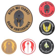 Buy New 31 Style Chic Punisher 3D PVC GITD God Will Judge Enemies Tactical SWAT Patch for $1.14 in AliExpress store