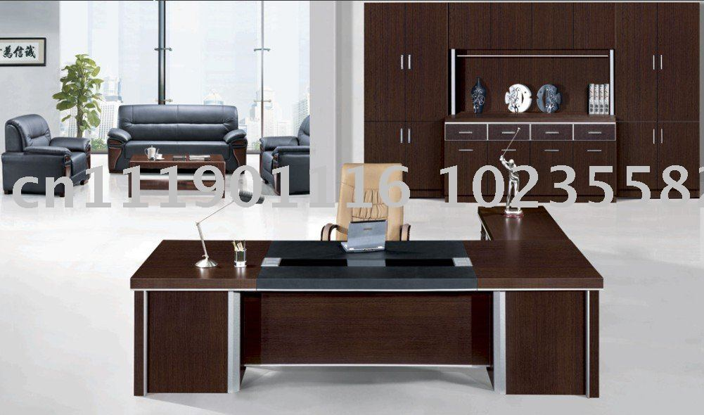 office furniture melamine office table executive desk 9618k in wood