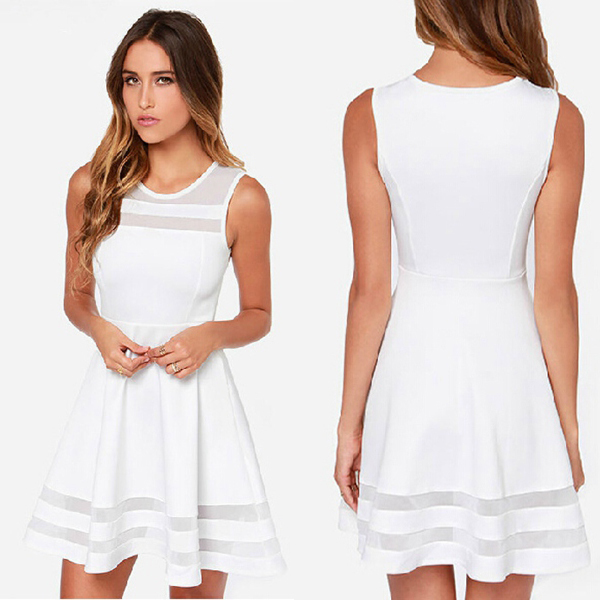 Plus Size Short White Party Dress 70
