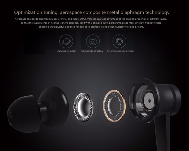 Original Xiaomi Piston Earphone Mi Hybrid Piston 4 In-Ear Stereo Earphones With Mic Music Headset For iPhone Samsung Xiaomi MP3