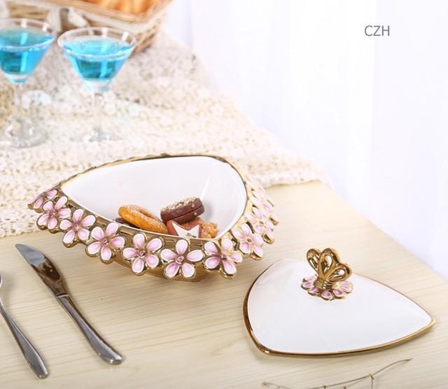 Делюкс фарфора хранения организатор ящик декоративных ремесел аксессуары украшения для сладости, конфеты, украшения и ювелирные изделия