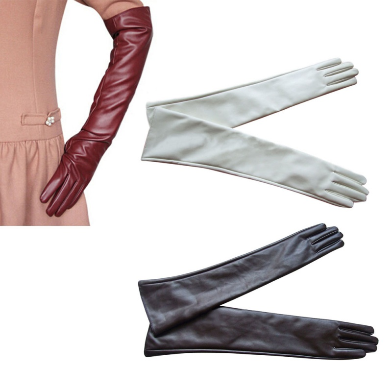 New Brand Women Ladies Opera Evening Party Gloves Faux Leather PU Over Elbow Long Glove Hot 7 Colors(China (Mainland))