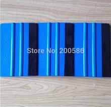 Blue 3M Squeegee Felt Squeegee Vinyl Foils Car Wrap Application Tool Scraper Free Shipping CS200PCS(China (Mainland))
