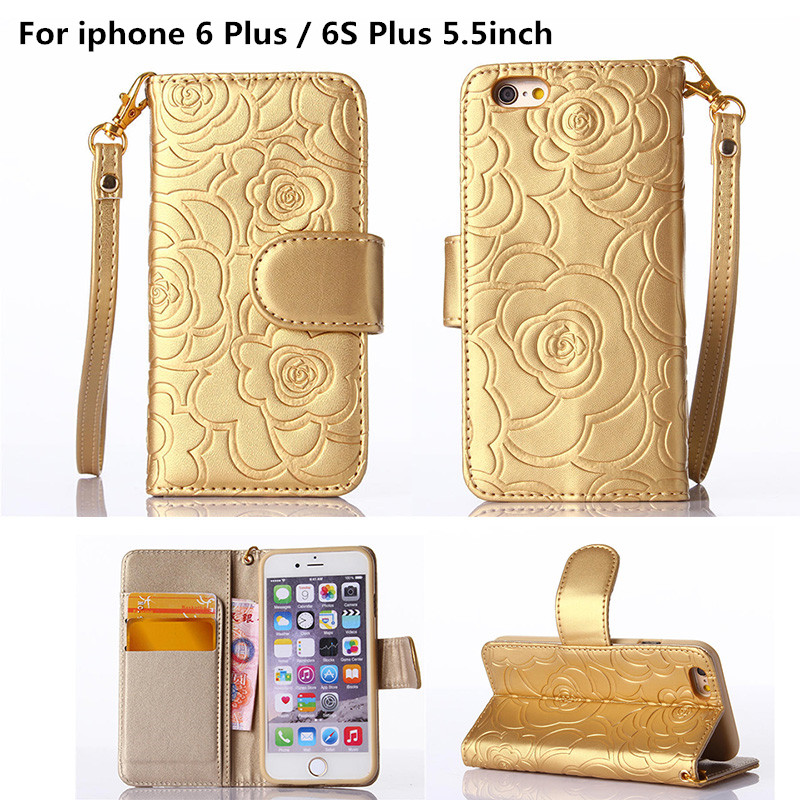 """6Plus 6SPlus 5.5"""" Vintage Floral Flower Pattern Wallet Card Slot Holder Stand Flip Cover Case For iphone 6 Plus / 6S Plus Coque(China (Mainland))"""