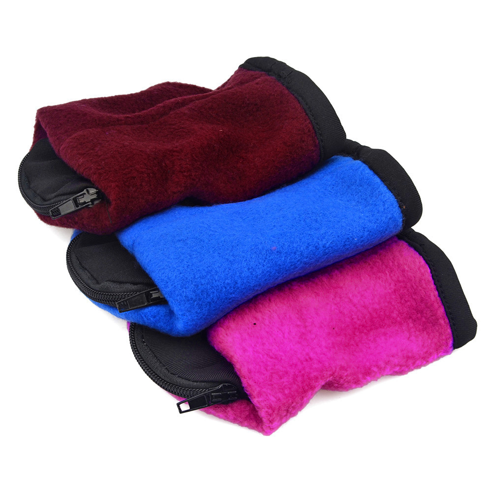 3 pcs/set Polar Fleece Zipper Ankle Wallet Wrist Pouches Running bag Run into Fitness Men Women Color Random(China (Mainland))