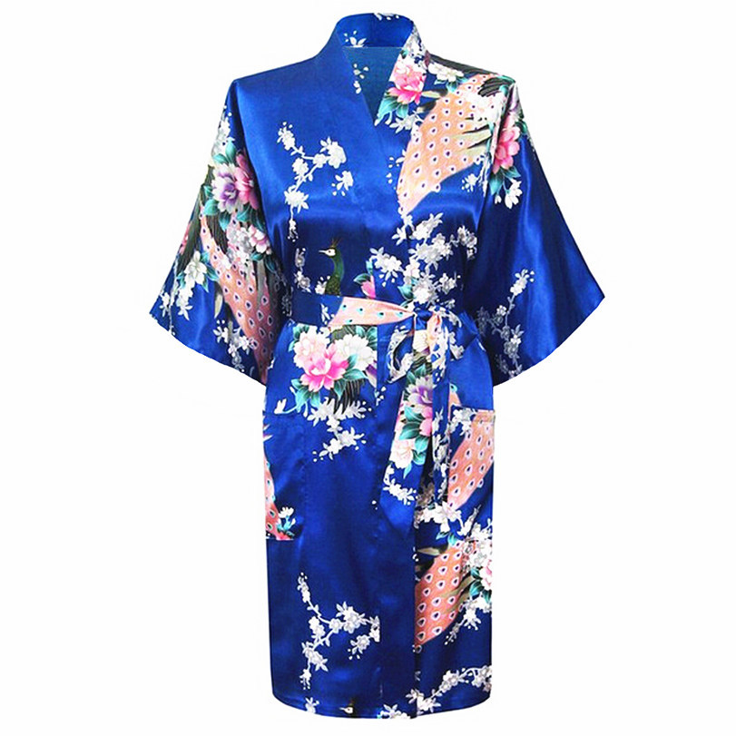 Lenceria De Baño Al Mayor:Plus Size Silk Kimono Robes for Women