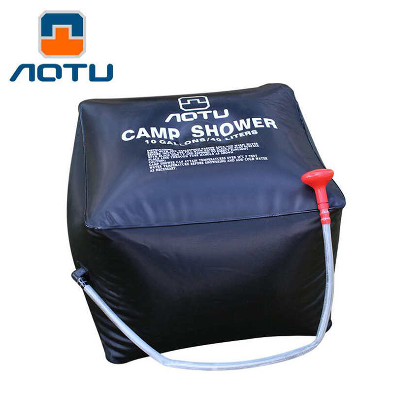New 40L / 10 Gallons Shower Water bag Solar Energy Heated Camp Shower Bag Outdoor Camping Hiking Utility Water Storage D1333HY(China (Mainland))