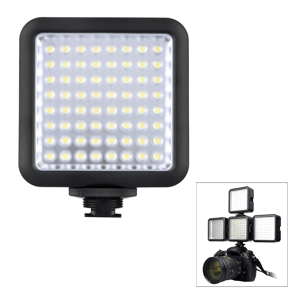 Godox 64 LED Video Light for DSLR Camera Camcorder mini DVR as Fill Light for Wedding News Interview Macrophotography(China (Mainland))