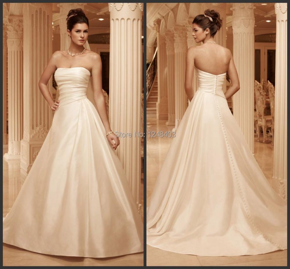 2015 A-Line Sweetheart Court Train Ivory Satin Pleat Winter Dress Camouflage Wedding Dresses - Dream blue wedding dresses store