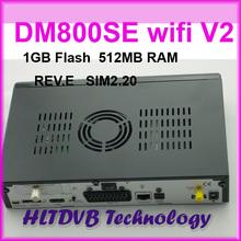 Dhl livraison gratuite 2015 meilleur DM800SE V2 wifi Satellite récepteur tv 1 GB Flash 521 MB RAM DM800hd se sim2.20 rev. E Motherbaord(China (Mainland))