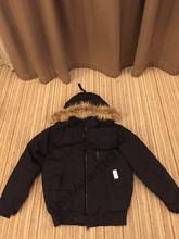 2016 Livraison gratuite Canada Hommes Hiver chaud Respirant manteau en Duvet D'oie veste Loup fu de col Hommes Vers Le Bas veste Borden-Bomber Parka(China (Mainland))