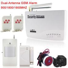 Nouvelles unités sans fil / filaire SIM GSM accueil cambrioleur de sécurité GSM téléphone système d'alarme anglais / russe / Spansih invites vocales(China (Mainland))