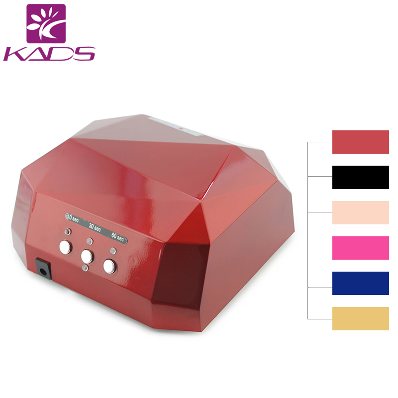 36W 110v&220v CCFL LED Nail Gel Lamp Dryer Diamond Shape Curing Nail Dryer Care Machine for UV Gel Nail Polish(China (Mainland))