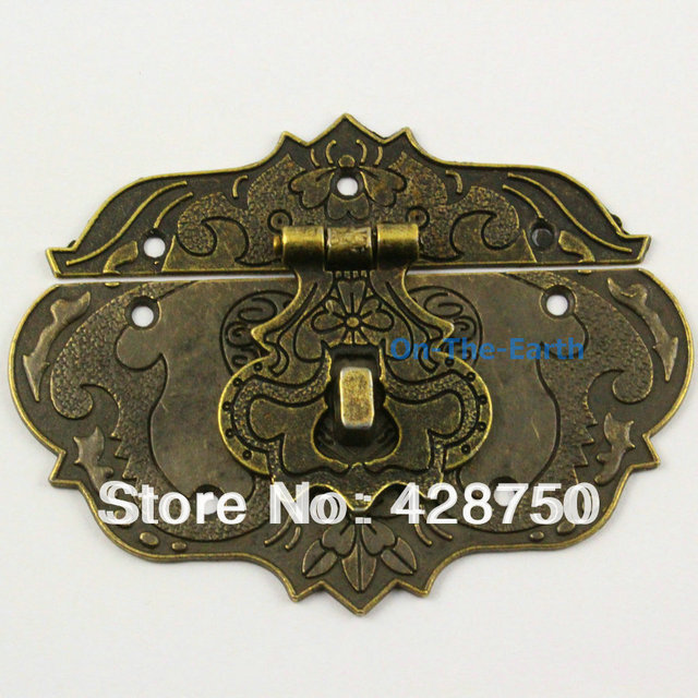 Antique Brass Hasp Latch Lock Jewelry Box Hasp 86*65mm Free Shipping