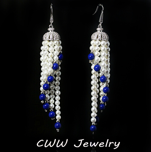 Chandelier pearl earrings for wedding reviews kotaksurat bridal chandelier aloadofball Image collections