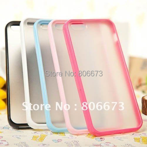 Candy Color TPU PC Back Case For iPhone 5S 5 Free Shipping