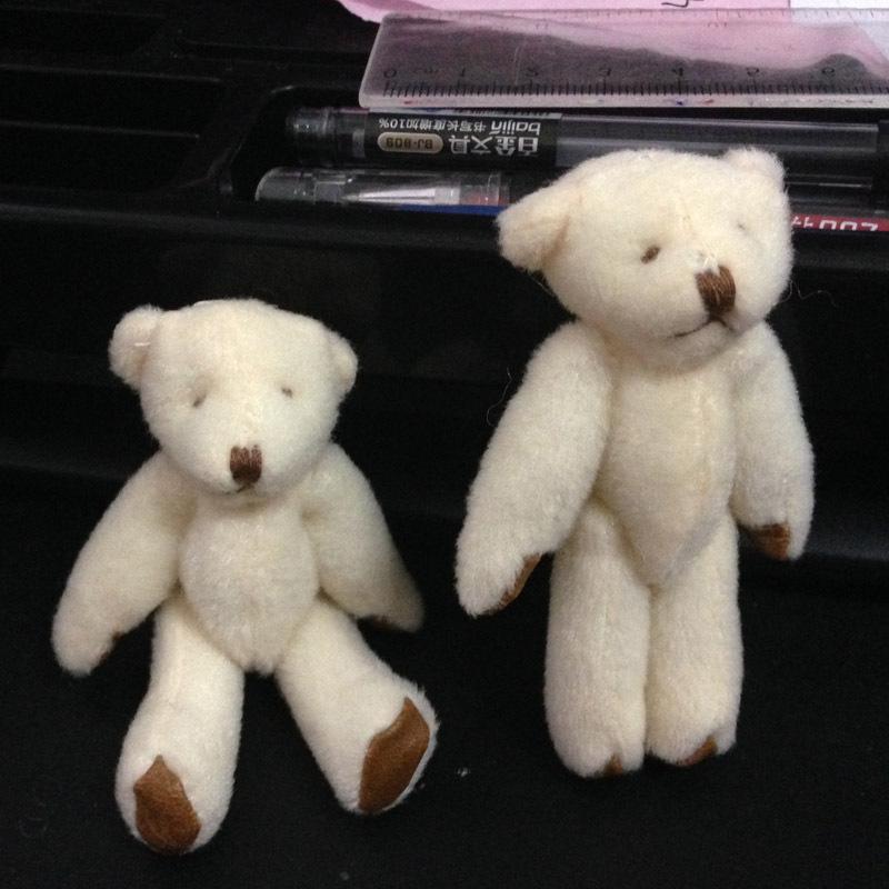 Promotion Plush Soft Toy Teddy Bear Mini Model Key chain/Mobile Charm Bear 7.5cm 20PCS/lot Gift Bear(China (Mainland))
