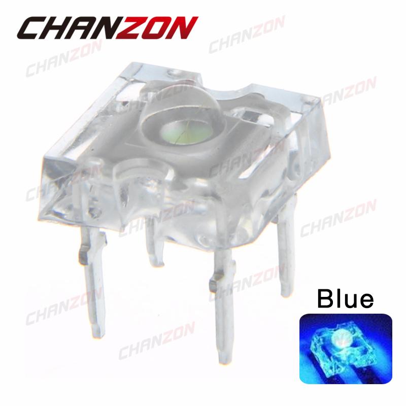 100pcs 3mm Water Clear Blue LED Piranha Round Lens Super Flux 3 mm Light Emitting Diode Lamp Through Hole Transparent Bulb(China (Mainland))