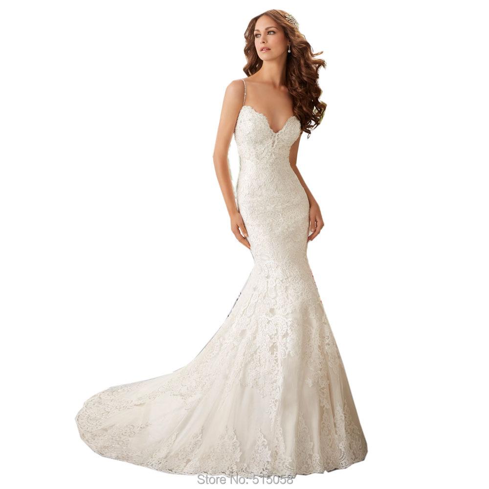 Buy deep v neck white lace sexy backless for Lace v neck backless wedding dress
