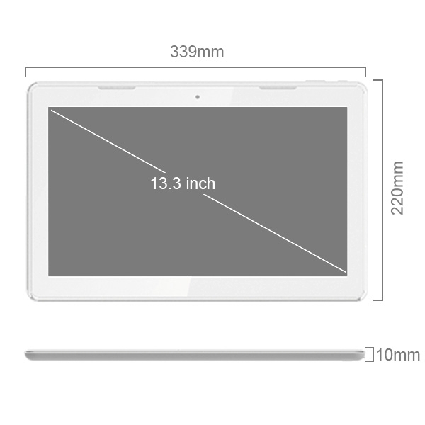 13 3 RK3188 Cortex A9 Quad core 1GB 16GB Ultra thin LED Google Android 4 4