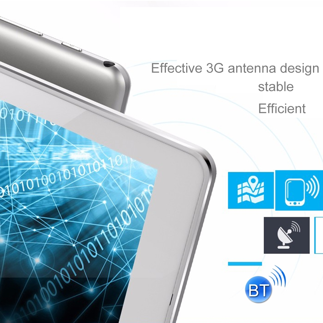 Original Cube Talk 9X/ U63 9.6 inch Android 5.1 MTK MT6580 Quad Core 3G Phone Call 1GB + 16GB Tablet PC, OTG GPS Dual SIM
