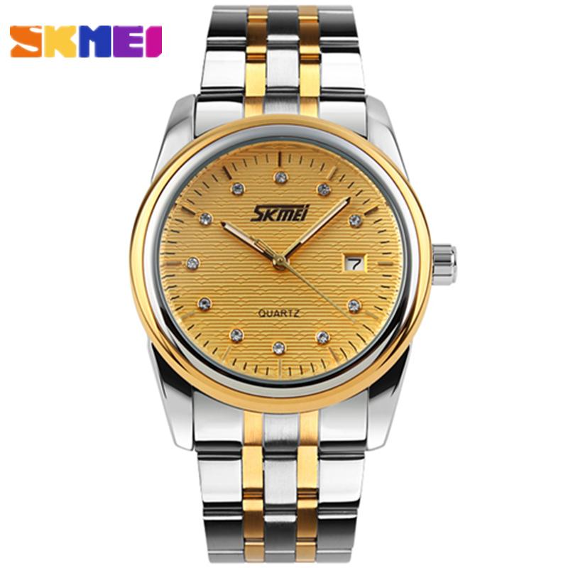2016 SKMEI Brand Quartz Watch Mens Fashion Casual Sport Watches Stainless Steel Mens Relogio Masculino Wristwatch Montre Homme<br><br>Aliexpress